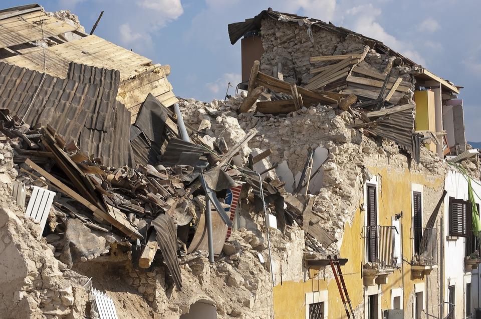 地震の画像