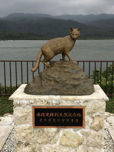 イリオモテヤマネコの像の画像